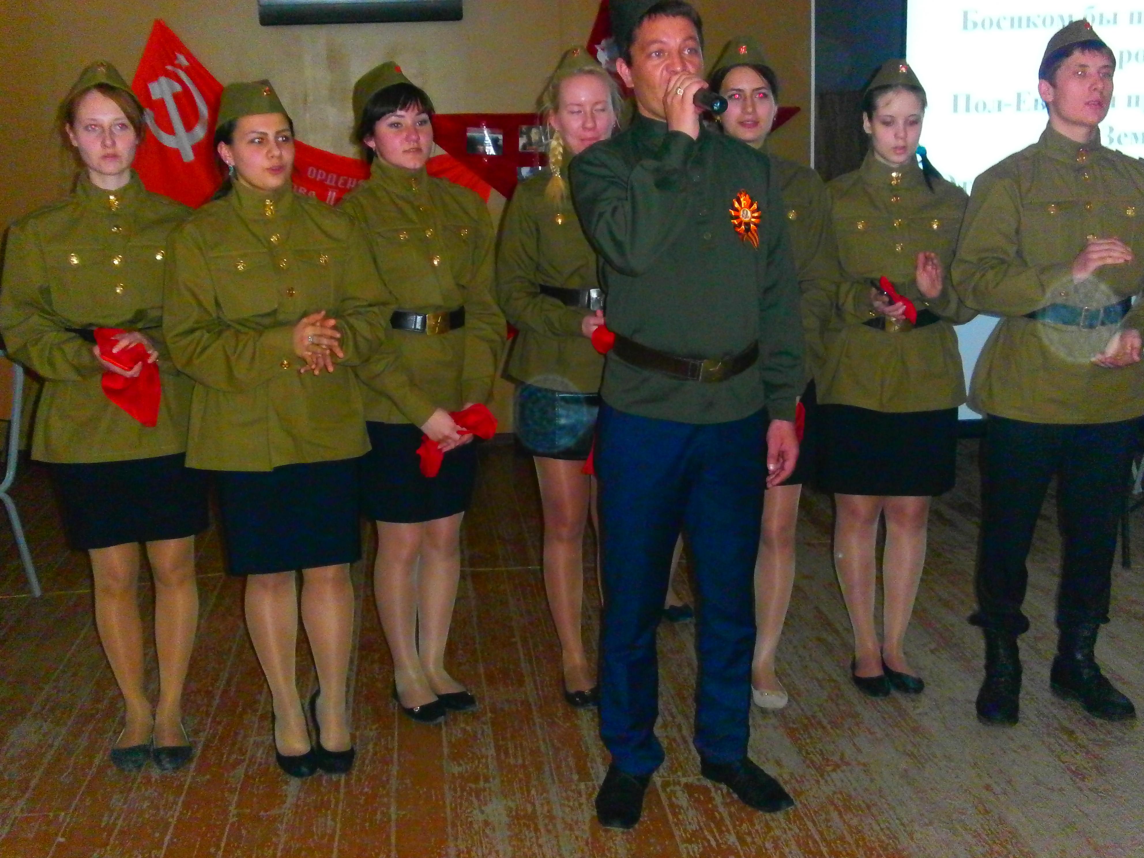 Частоозерские школьники поздравили ветеранов и почтили память погибших в Великой Отечественной войне